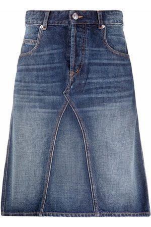 Isabel Marant Denim straight-fit skirt