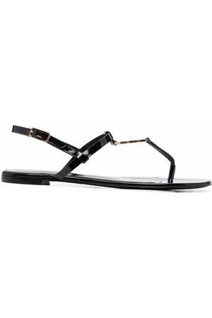 Saint Laurent Women Sandals - Cassandra logo plaque sandals