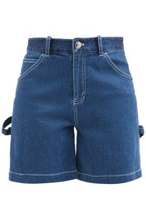 Staud Painter High-rise Denim Shorts - Womens - Denim