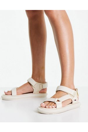 Tommy Hilfiger Ankle strap sandals in cream-White