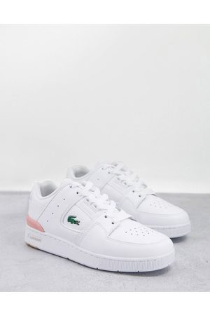 Lacoste Women Sneakers - Court Cage leather sneakers in white and pink