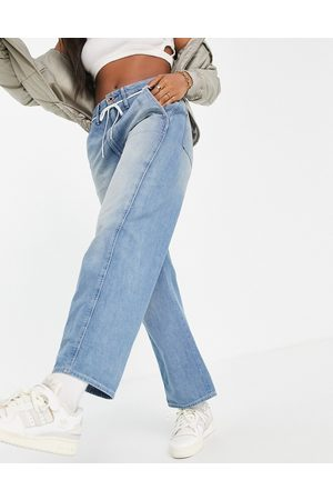 G-Star Lintel high rise slouch fit dad jeans with shoe lace belt in