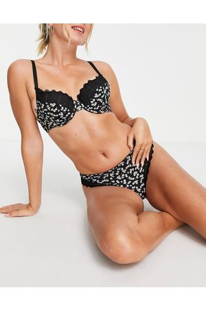 ASOS Amaya ditsy floral & lace padded bra in