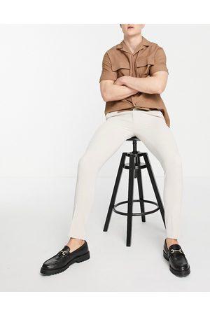 ASOS Smart super skinny oxford pants in -Neutral