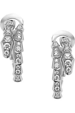 Bvlgari Earrings - Serpenti Viper 18K & Diamond Drop Earrings