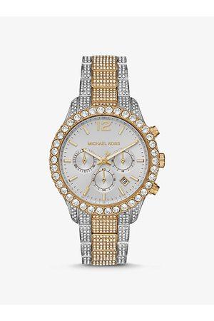 Michael Kors Women Watches - MK Oversized Layton Pavé Two-Tone Watch - Two Tone