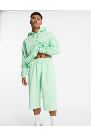ASOS Oversized tracksuit with hoodie & oversized shorts in pastel green