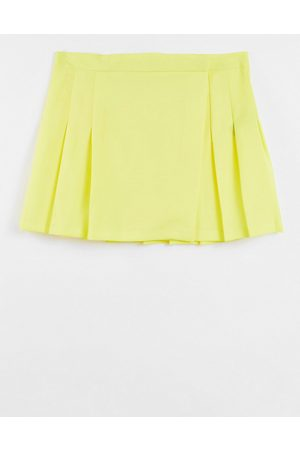 ASOS Pleated mini skirt in -Yellow