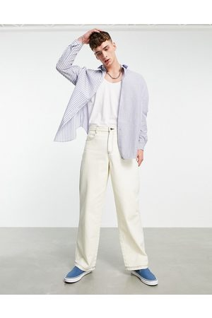 ASOS 90s oversized shirt with patchwork stripe