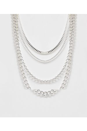 ASOS Men Necklaces - 4 pack short layered neckchains in tone