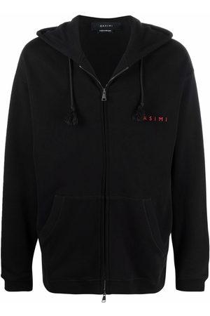 QASIMI Embroidered logo slogan hoodie