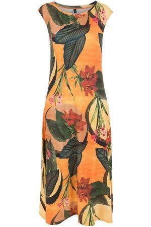 Lygia & Nanny Floral leaf print midi dress