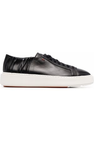 santoni Ruched detail low-top sneakers