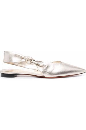 santoni Metallic leather sandals