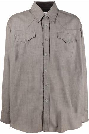 OUR LEGACY Men Shirts - Ranch-cut longsleeved shirt