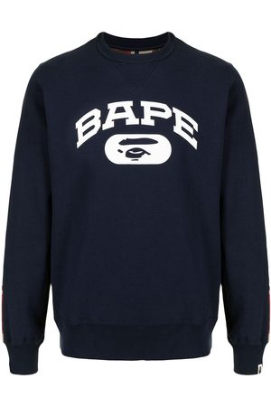 A Bathing Ape Logo-print contrast sweatshirt