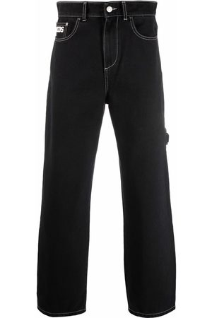 GCDS Mid-rise straight-leg jeans
