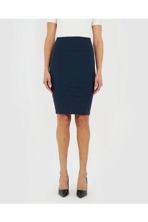Forcast Taylor Pencil Skirt - Pencil skirts (Navy) Taylor Pencil Skirt
