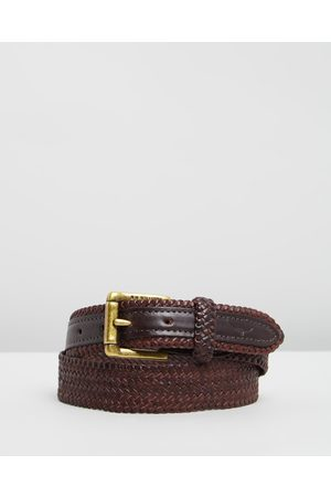 "R.M.Williams Men Belts - 1 1 4"" Plaited Buckle Belt - Belts 1 1-4"" Plaited Buckle Belt"