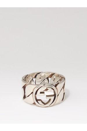 Gucci GG-logo Sterling- Chain Ring - Mens