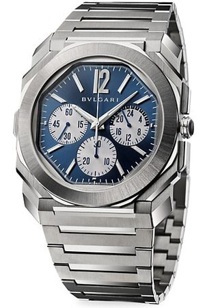 Bvlgari Octo Finissimo Stainless Steel Chronograph GMT Watch
