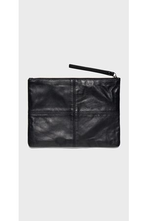 Cue Women Clutches - Leather Zip Pouch