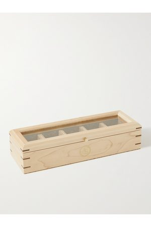 WOLF Men Watches - Analog/Shift Flatiron II Maple and Walnut Wood Five-Piece Watch Box