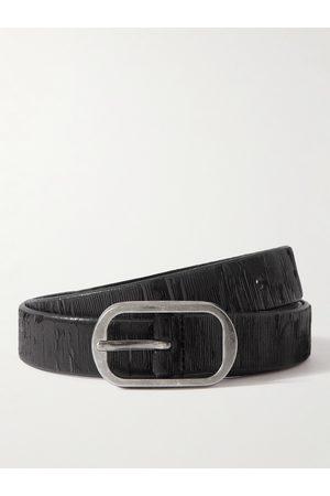 SAINT LAURENT Men Belts - 2.3cm Textured-Leather Belt