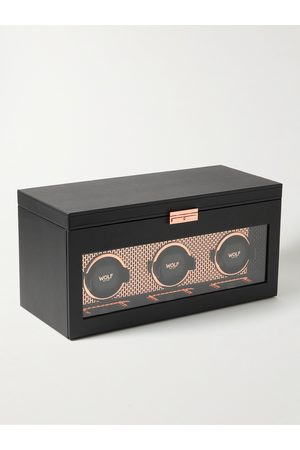 Wolf Axis Triple Vegan Leather Watch Winder
