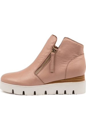 Django & Juliette Women Ankle Boots - Radio Dj Warm Rose Sole Boots Womens Shoes Casual Ankle Boots