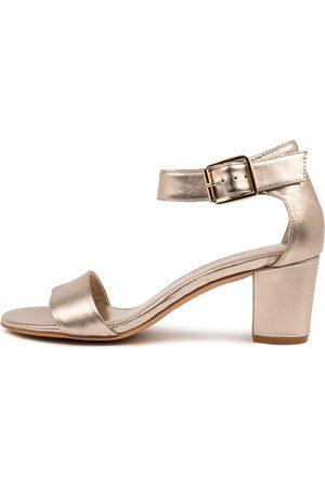 Django & Juliette Cassier Champagne Sandals Womens Shoes Dress Heeled Sandals