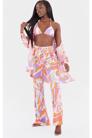 PRETTYLITTLETHING Abstract Beach Pants