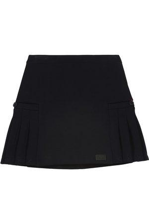 Emporio Armani Cotton-blend jersey skirt