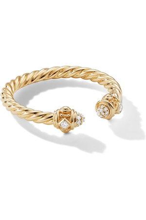 David Yurman Women Rings - 18kt yellow 2.3mm Renaissance diamond ring