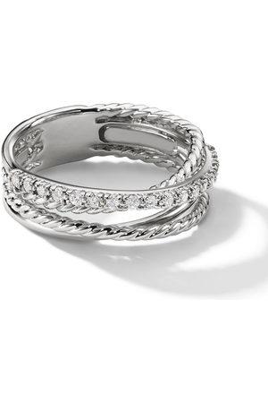 David Yurman Women Rings - Sterling small Crossover diamond ring