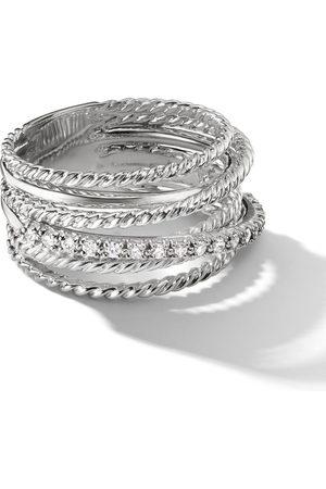 David Yurman Women Rings - Sterling large Crossover diamond ring