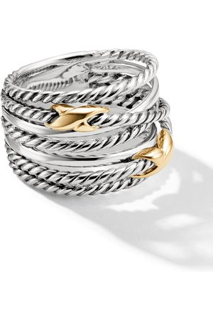 David Yurman Sterling crossover small X ring