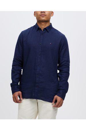Tommy Hilfiger Premium Linen Shirt - Casual shirts (Carbon Navy) Premium Linen Shirt