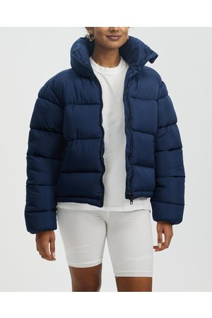 Glamorous Women Winter Jackets - Ladies Puffer Jacket - Coats & Jackets (Navy with Lining) Ladies Puffer Jacket