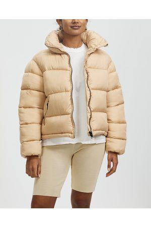 Glamorous Women Winter Jackets - Ladies Puffer Jacket - Coats & Jackets (Stone with Lining) Ladies Puffer Jacket