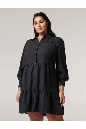 Forever New Monica Curve Tiered Smock Dress