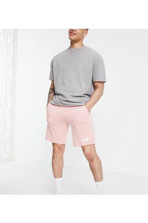 Puma Essentials jersey shorts in pink