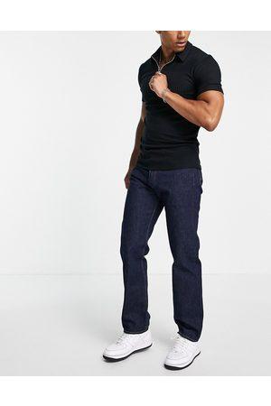 Levi's Men Straight - 501 original straight fit jeans in dark navy wash