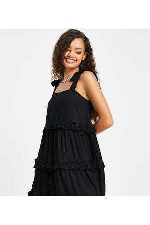 New Look Petite Tiered frill mini dress in