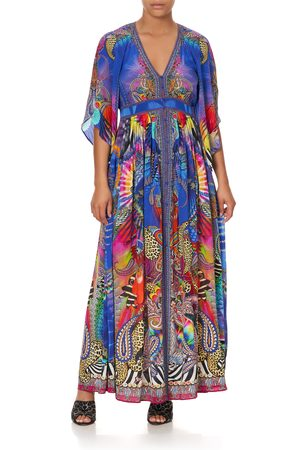 Camilla eBoutique Long Dress with Smocked Waist Psychedelica