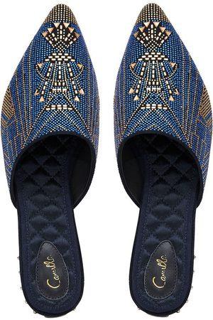 Camilla eBoutique Aztec Crystal Slipper Luxe Navy