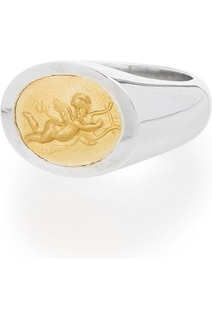 Shola Branson Men Rings - Sterling and 14kt gold Cupid ring