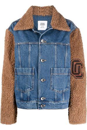 Opening Ceremony Women Denim Jackets - Teddy sleeve denim jacket