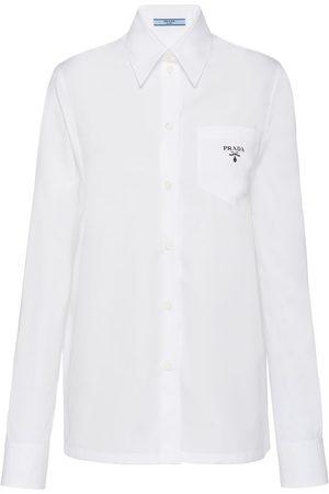Prada Logo-print poplin shirt