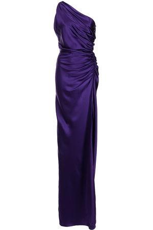 Michelle Mason Women Party Dresses - One-shoulder silk gown